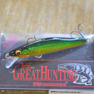 MEGABASS X-55 GREAT HUNTING цвет M GOLD GREEN
