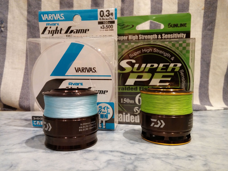 Varivas Light Game Super Premium PE #0.3 & Sunline Super PE #0.6