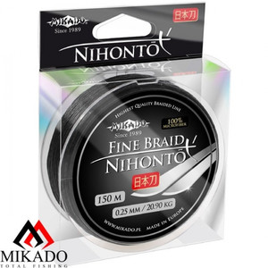 Mikado NIHONTO FINE BRAID 0,20 black (150 м) — 16.60 кг., шт